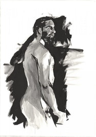 Example of a students work from a life drawing session