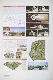 Building research sketchbook spread