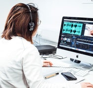 Student editing video
