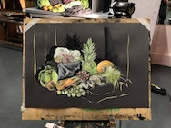 painting of fruit