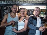 Actors at a bar