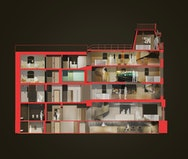 Building cross section render