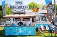 Jimmy's Iced Coffee's food festival van and stand