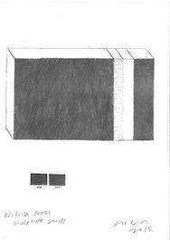 Pencil sketch of a rectangular box