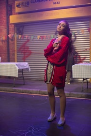 Acting student in the production of Little Revolution