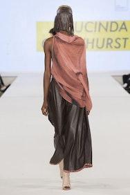 Female model on catwalk