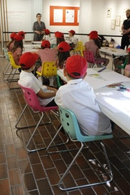 Children taking part in a Gallery workshop