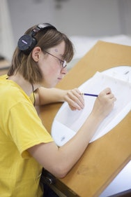 Students on the Summer Courses Animation Course