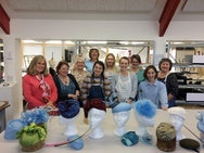 Millinery students group photograph