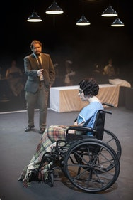 Students in a production of Machinal