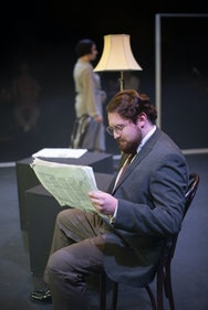 Student in a production of Machinal