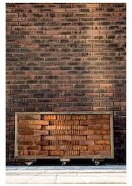 Mensum Portrait of brick wall