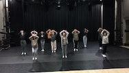 Dancers using studio to rehearse