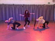 Dancers rehearsing in the studio