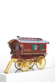 model of old caravan