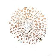 Pencil shavings forming spiral pattern