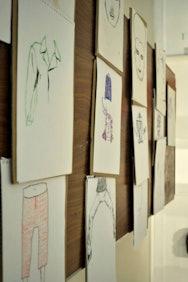 Children's work put up in TheGallery