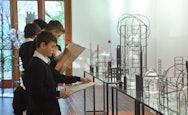 School students admiring a sculpture at a TheGallery School Workshop