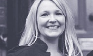 Black and white image of Sevra Davies