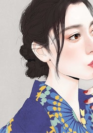 Chinese lady illustration