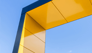 Yellow and blue structure