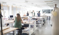 Students at work in Fashion studios