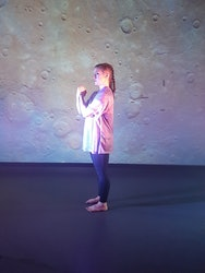 Dancer performing a dance based upon Mercury