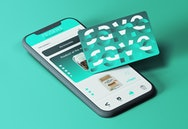 Card and phone app visual