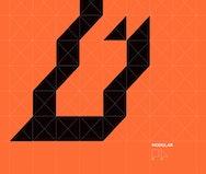 Orange modular graphic design poster