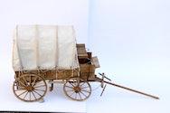 model of wooden trailer