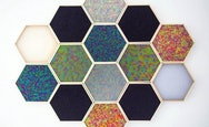 Honeycomb shaped artwork