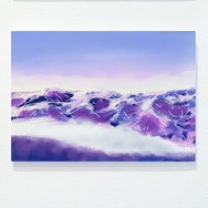 purple abstract landscape