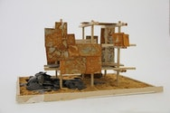 Architecture model created using different materials