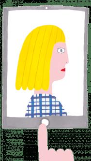 Cartoon image of a girl