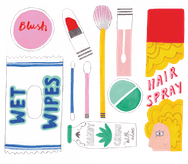 drawing of cosmetics