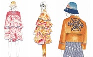 Fashion illustrations of clothes on a model