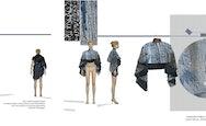 flat plan of jacket