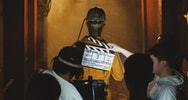behind the scenes on a film production