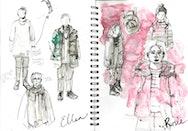 costume sketchbook design
