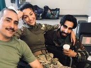 Michelle Keegan and cast on Our Girl