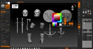 Soldier model being created within ZBrush