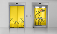 ikea Lift yellow illustration design