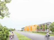 Modern building sketch