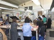 Students working together at Spring Art School