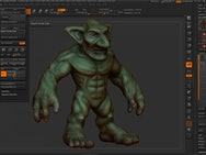 Goblin model created within ZBrush