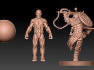 Anatomical models created within ZBrush